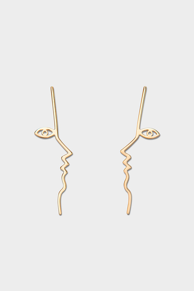 Dina Earrings, 18K Gold Vermeil