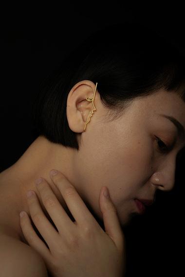 Dina Ear Cuff, 18K Gold Vermeil