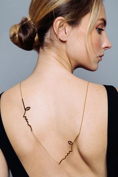 Dina Necklace, Vermeil
