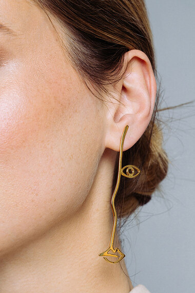 Surreal Earrings, 18K Gold Vermeil