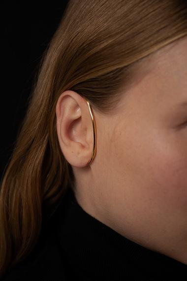 Form C Ear Cuff, Vermeil