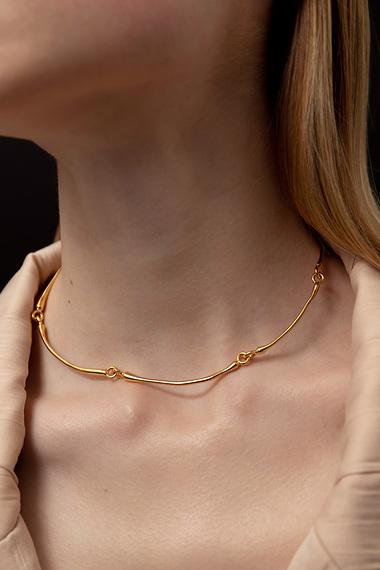 Articulated Choker Necklace, 18K Gold Vermeil