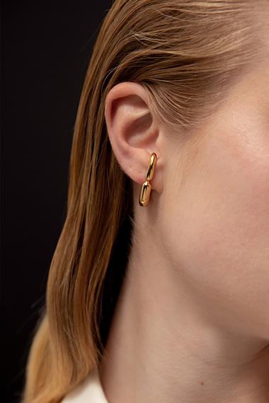 Huggie Earrings, 18K Gold Vermeil