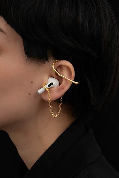 Pod Cuff Ear Cuff, 18K Gold Vermeil
